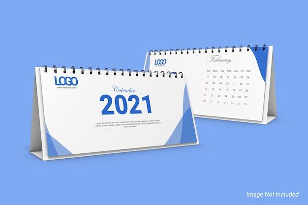 Мокап календаря dl landscape business desk