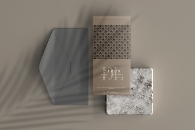 Dl postcard or invitation card mockup