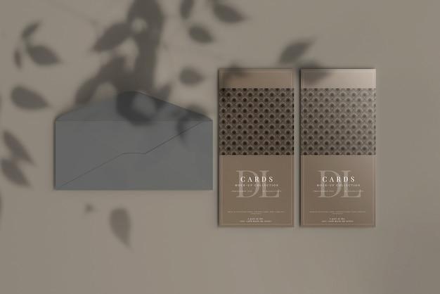 Dl 엽서 또는 초대 카드 모형