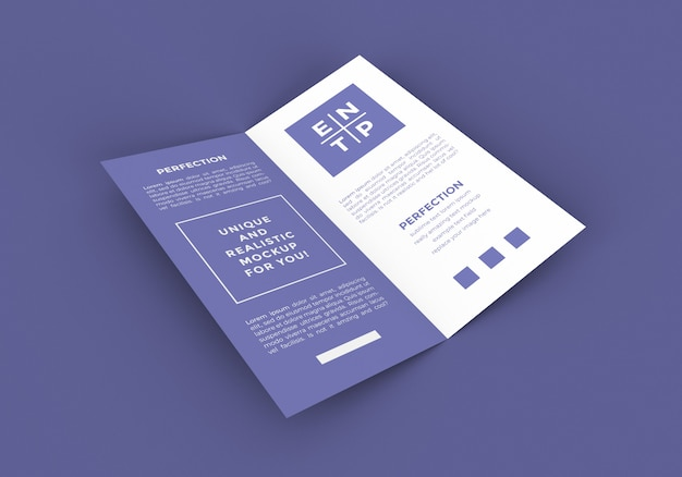 Dl размер bi-fold брошюра макет