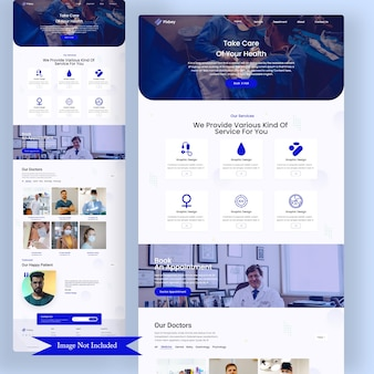 Doctor appointment web landing page
