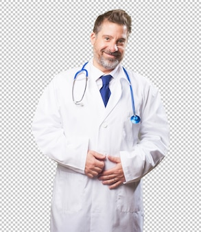 Doctor man on white background