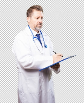 Doctor man with an inventory Premium Psd
