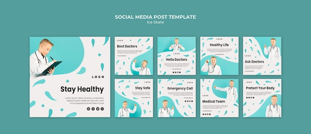 Doctor social media post template