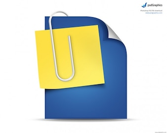 Document and post it simple icon