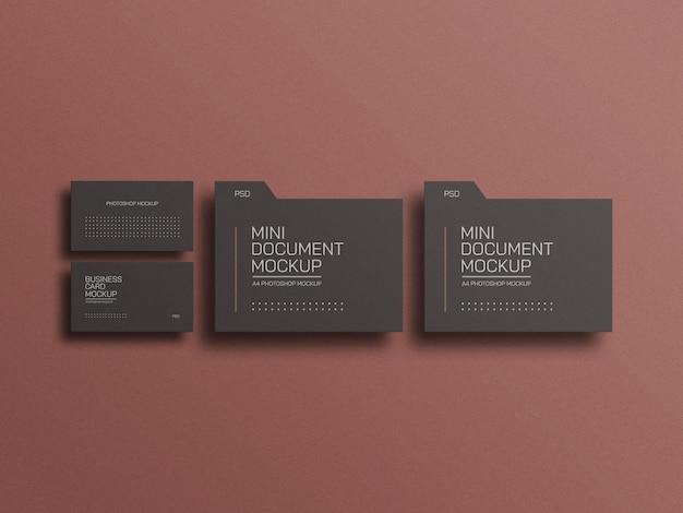 Файл документа с макетом визитки
