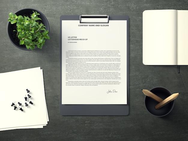 Document on folder mock up