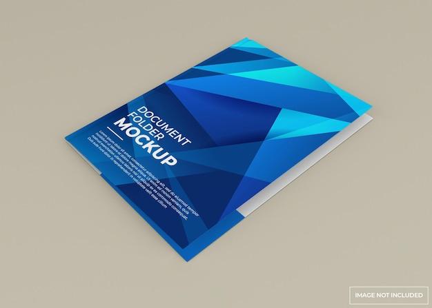 Document folder mockup design isolated