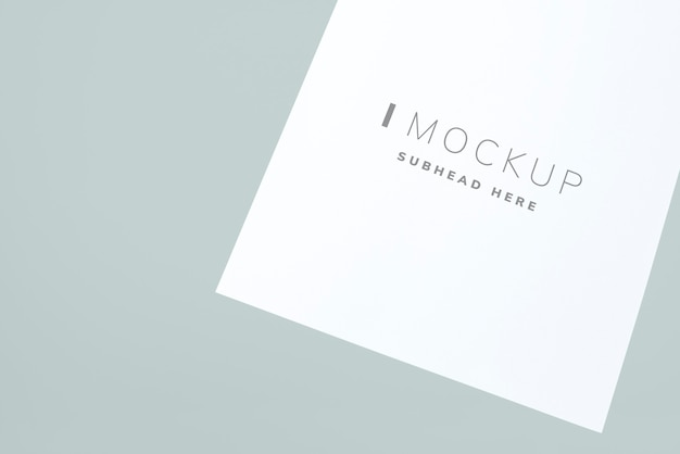 Document mockup on a plain background