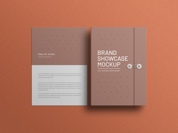 Document with letterhead mockup