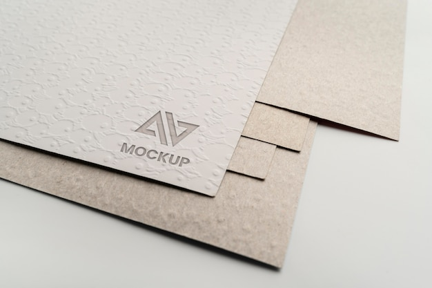 Documents with elegant mock-up logo design