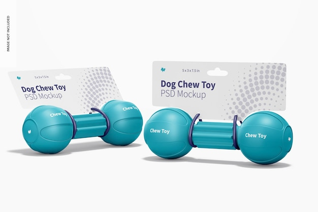 Dog barbell chew toys packaging mockup