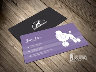 Dog business card template