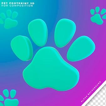 Dog and cat footprint