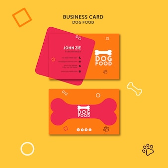 Dog food business card template