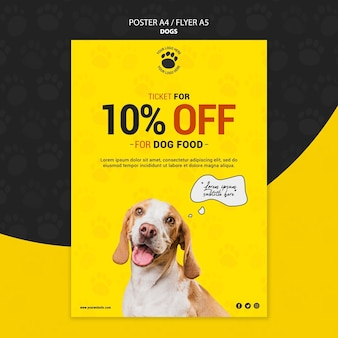 Dog food discount poster design