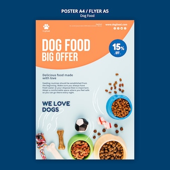Dog food flyer template