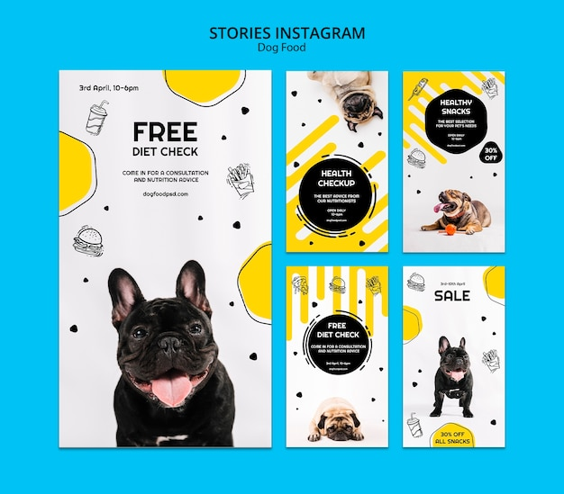 Dog food instagram stories collection