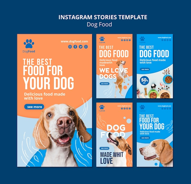 Dog food instagram stories template