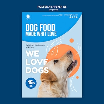Dog food poster a4 template