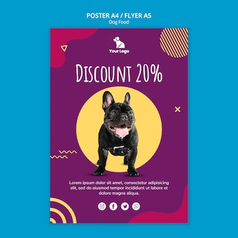 Dog food poster template