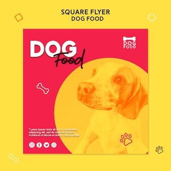 Modello di volantino quadrato di cibo per cani