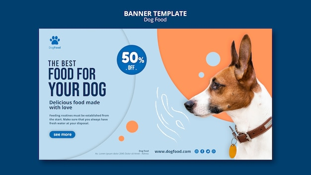 Dog food template banner