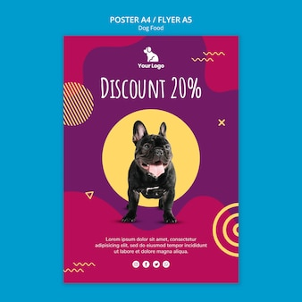 Dog food template flyer