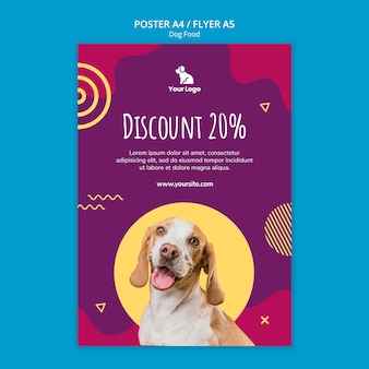 Dog food template poster