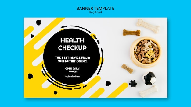 Dog health check up banner template