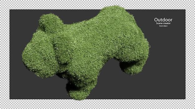 개 모양의 정원 울타리