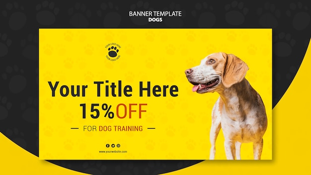 Dog training discount banner template