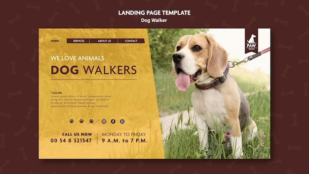 Pagina di destinazione del dog walker