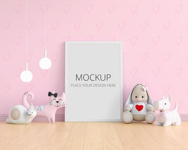 フレームモックアップと床の人形