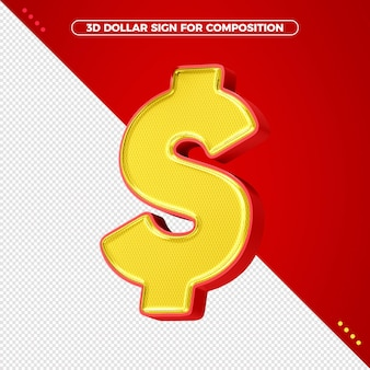 Доллар петь в 3d-рендеринге изолированные