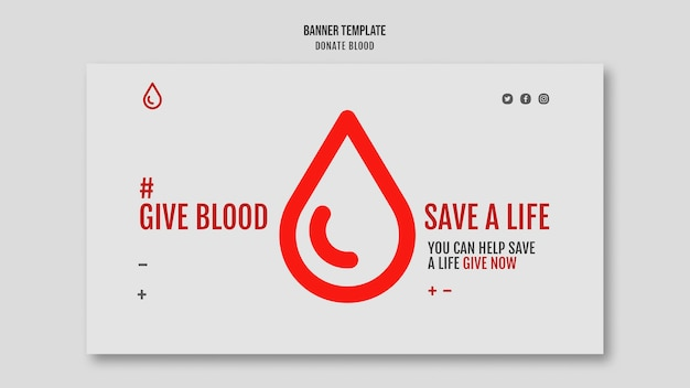 Donate blood banner template