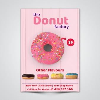 Donut Flyer Template