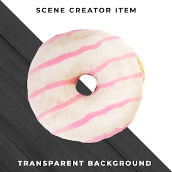 Donut object on transparent psd