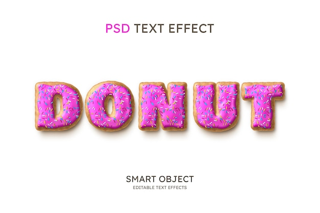 Donut text style effect