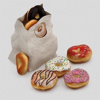 도넛 3d 절연 렌더링