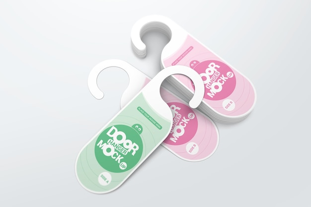 Door hanger mockup collection
