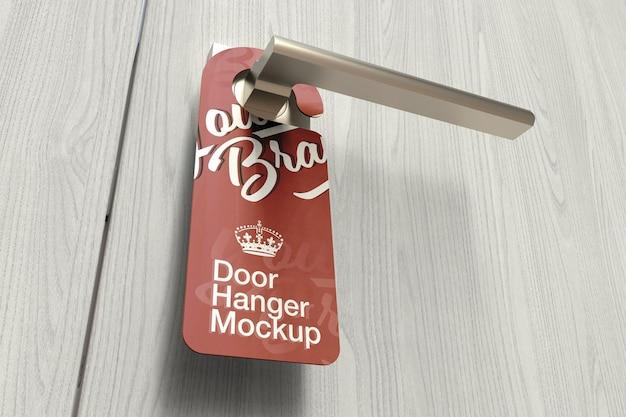 Door hanger mockup design in 3d rendering