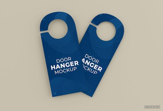 Door hanger mockup isolated design