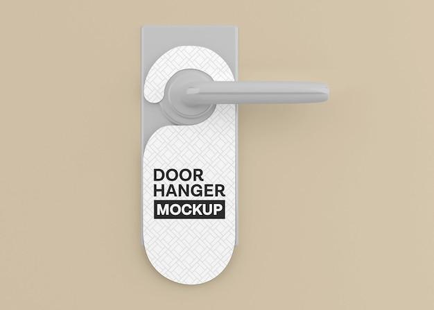 Door hanger mockup isolated