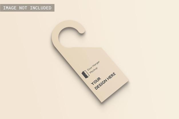 Door hanger mockup left angle vie Premium Psd