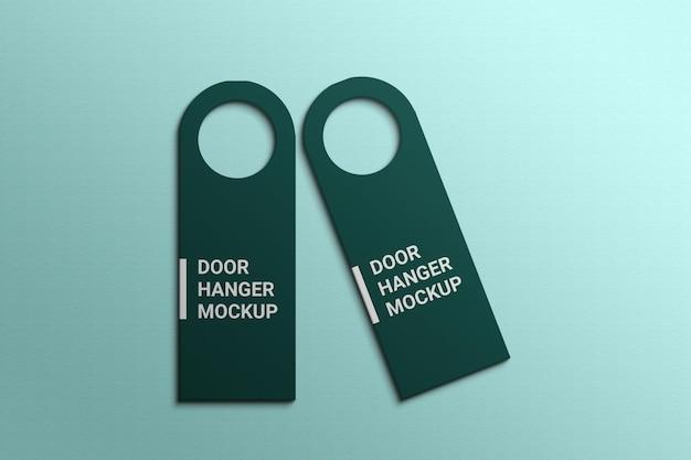 Door hanger mockup template premium psd
