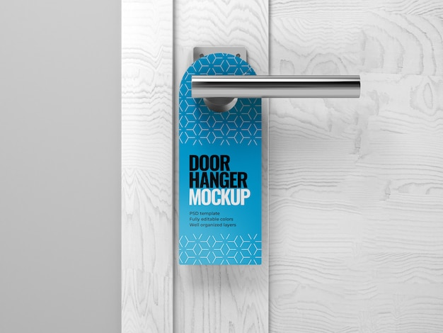 Мокап дверной вешалки