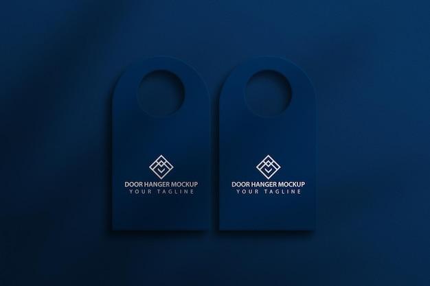 Door hanger mockup Premium Psd