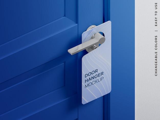 Door hanger tag do not disturb sign mockup