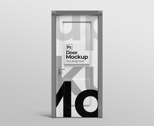 Door mockup for advertising or branding